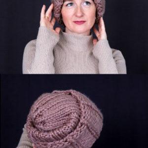 шапка вязаная крупной вязкой, описание, вязание на заказ