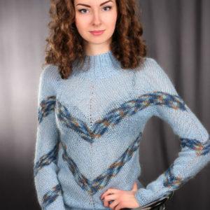 свитер из ангоры, описание, вязание на заказ