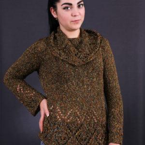 ажурный свитер, описание, вязание на заказ