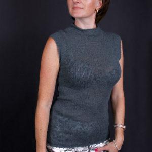 вязанная майка-топ, описание, вязание на заказ