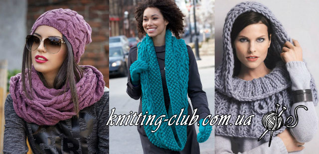 С чем сочетается снуд, Как носить снуд, как связать шарф - снуд, описание, вязание на заказ