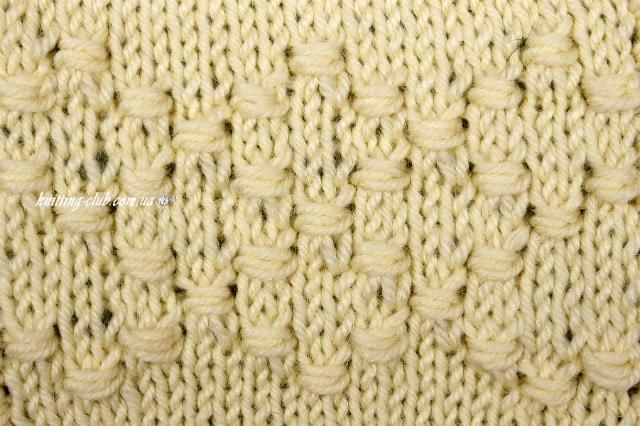 узор из двойных обхватывающих петель, базовые узоры вязания, описание, вязание на заказ, узоры из лицевых и изнаночных петель, узоры и схемы, узоры,жгуты, косы, араны,