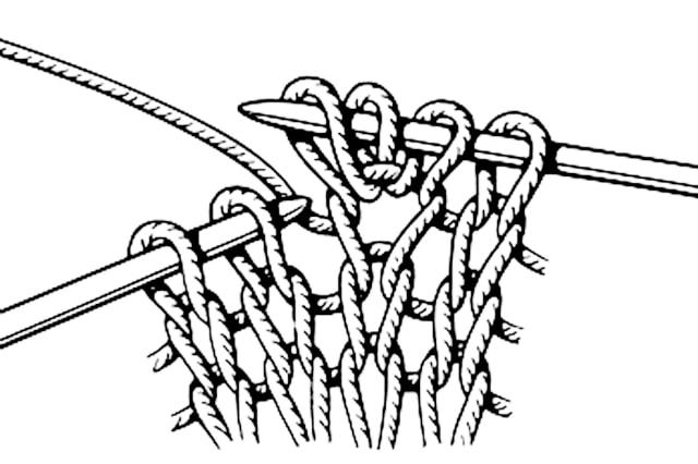 из 1-й петли три, базовые узоры вязания, описание, вязание на заказ, узоры из лицевых и изнаночных петель, узоры и схемы, узоры,жгуты, косы, араны,