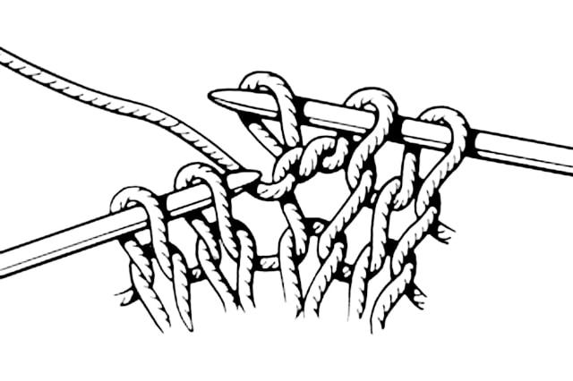 из 1-й петли две, базовые узоры вязания, описание, вязание на заказ, узоры из лицевых и изнаночных петель, узоры и схемы, узоры,жгуты, косы, араны,