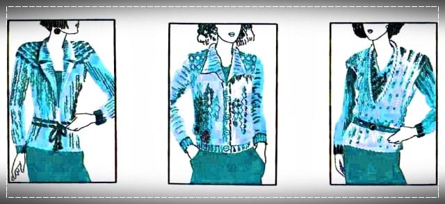 Такая форма горловины рекомендуется для фигур с короткой шеей, Советы по снятию мерок и подбору фасона, снятие мерок, подбор фасона, вязание, вязание для начинающих, вязание, как снять мерки, рекомендации для разных типов фигур, виды отделки вязаной одежды
