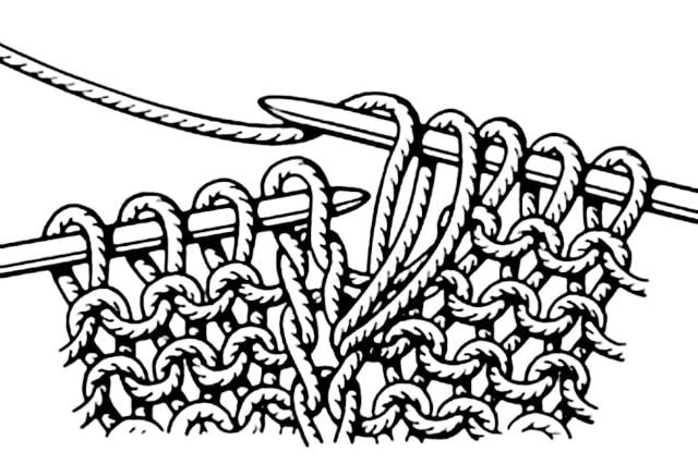 петли можно вывязывать из полотна, базовые узоры вязания, описание, вязание на заказ, узоры из лицевых и изнаночных петель, узоры и схемы, узоры,жгуты, косы, араны,