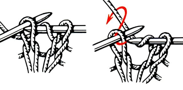 Вязание резинкой спицами пошагово 15