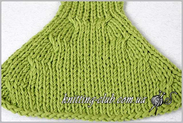 Убавка петель при вязание 30