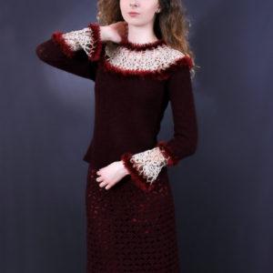 "Ажурная юбка ""Ракушки"", описание, вязание на заказ"