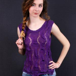 """Ажурный топ """"Violet"""", описание, вязание на заказ"""
