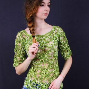 """Ажурный пуловер """"Весна"""", описание, вязание на заказ"""