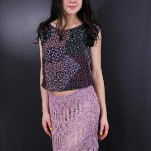 Ажурная юбка, описание, вязание на заказ