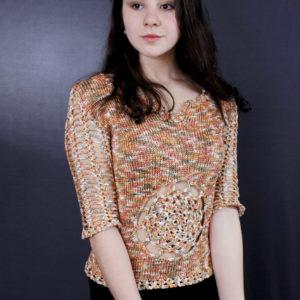 пуловер ажурный, описание, вязание на заказ
