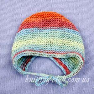 Вяжем детям_Детская шапочка к Baby Surprise Jacket, описание, вязание на заказ