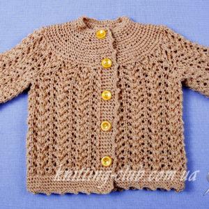 Ажурная детская кофточка от Элизабет Циммерман, вязание на заказ