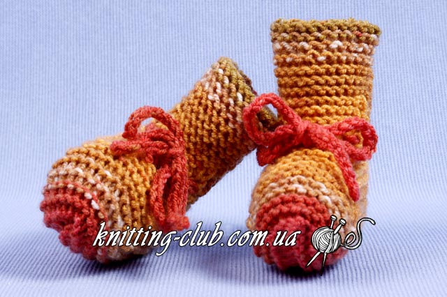 Пинетки_Tie Boottes, описание, вязание на заказ