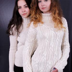 Свитер женский, свитер с аранами unisex, купить свитер женский