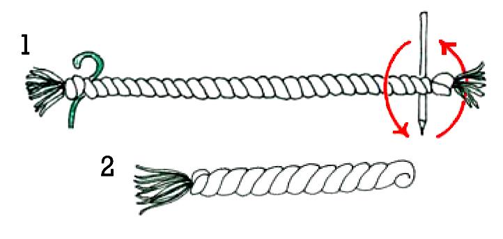 как сделать крученый шнур