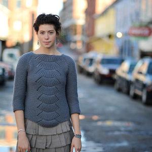 """Пуловер """"Камилла"""", Вязание спицами, Схема и описание пуловера """"Камилла"""""""