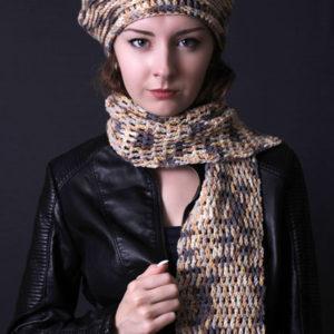 Комплект берет и шарф, берет, шарф, купить берет