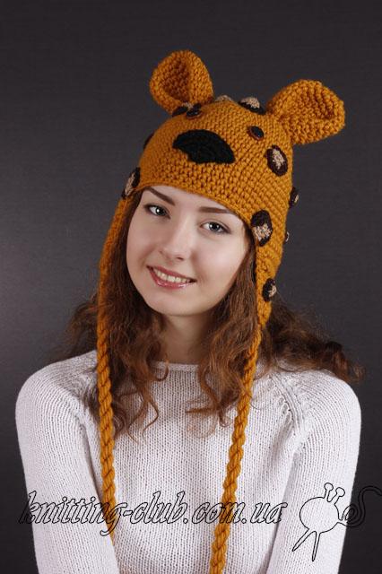 """Шапка """"Леопард"""",купить шапку """"Леопард"""", как связать шапку """"Леопард"""""""