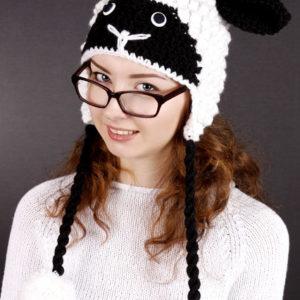 """Шапки - зверюшки, Шапка """"Овечка"""", купить шапку """"Овечку"""", схема и описание шапки """"Овечка"""""""