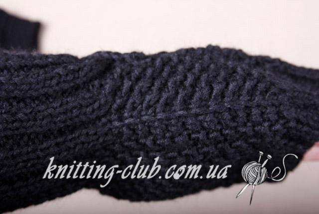Митенки мужские, митенки мужские на двух спицах, Вязание для мужчин, схема вязания мужских митенок