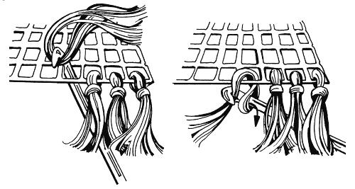 как сделать бахрому к шарфу или шали