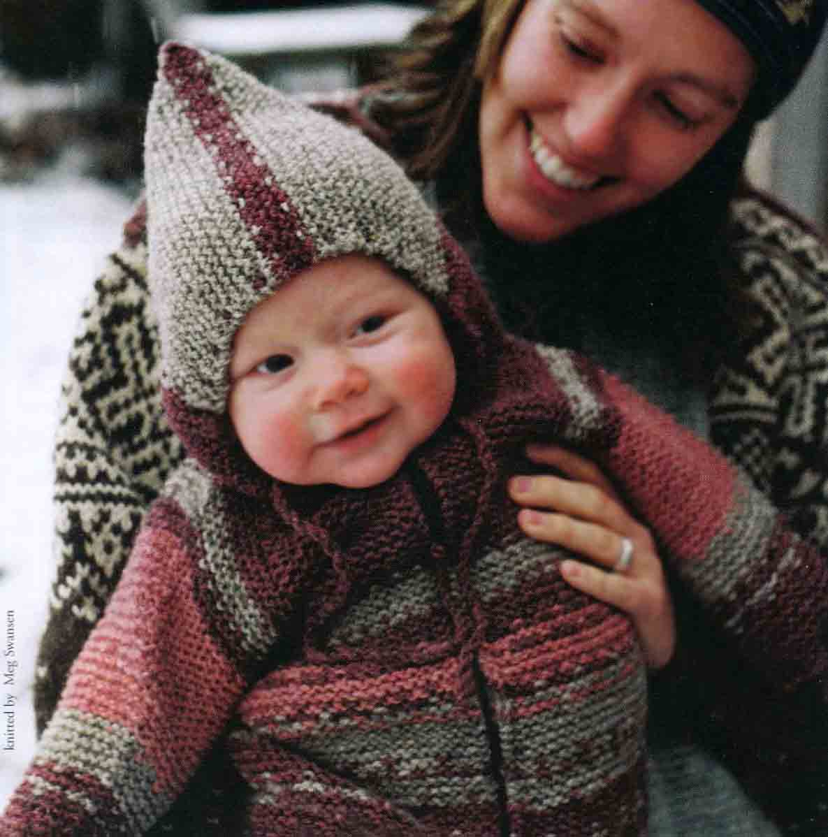 Томтен жакет, вязание детям, кофта для малыша, Элизабет Циммерман, Elizabeth Zimmermann, вяжите с нами,вяжем вместе, жакет для ребенка, кофта для ребенка, вязаные модели для детей