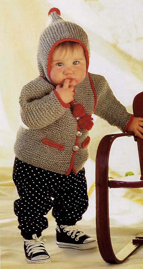 Томтен жакет, вязание детям, кофта для малыша, Элизабет Циммерман