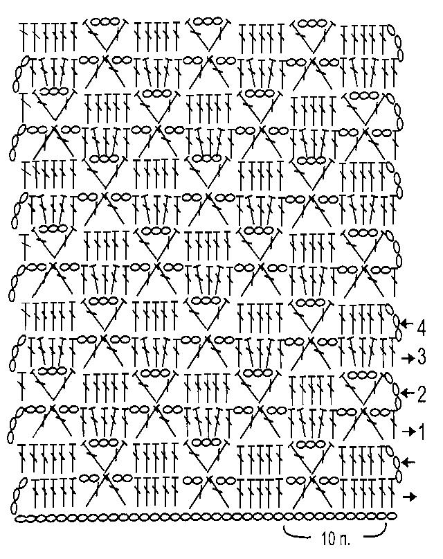 Ажурные узоры средней сложности крючком, Вязание крючком, Узоры крючком