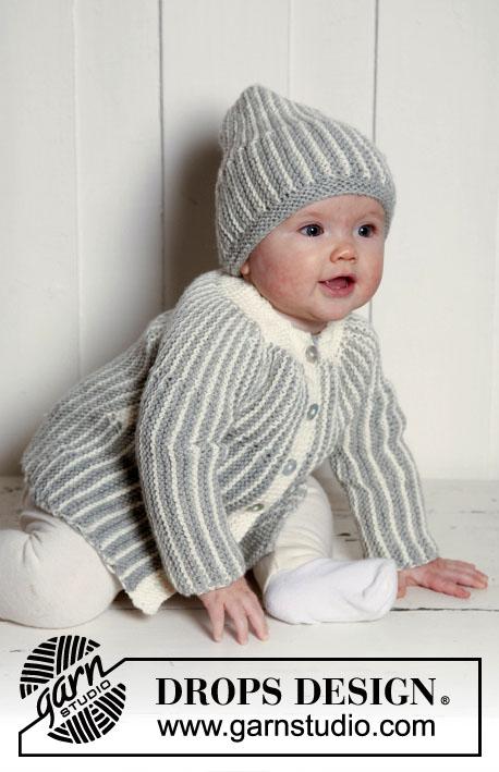 Вязание спицами, Схема и описание кофточки и шапки для малыша, Жакет для малыша, Детский свитер, Вязание детям, Детская шапочка