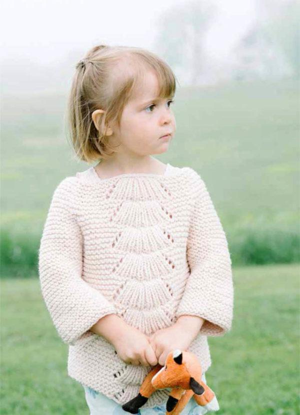 Пуловер Камилла, Вязание спицами, Схема и описание пуловера Камилла, Пуловер для младенца, Детский свитер, Вязание детям