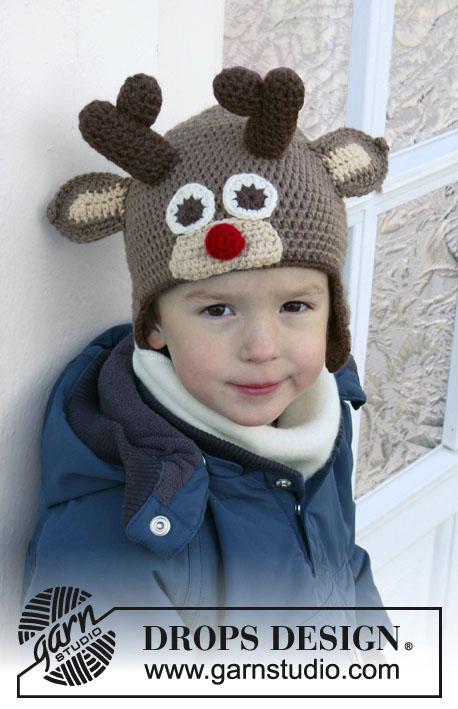 шапка, шапки - зверушки, шапка крючком, шапка для ребенка, вязание крючком, идеи для подарков, идеи для подарков к Рождеству, вязание для детей, Drops