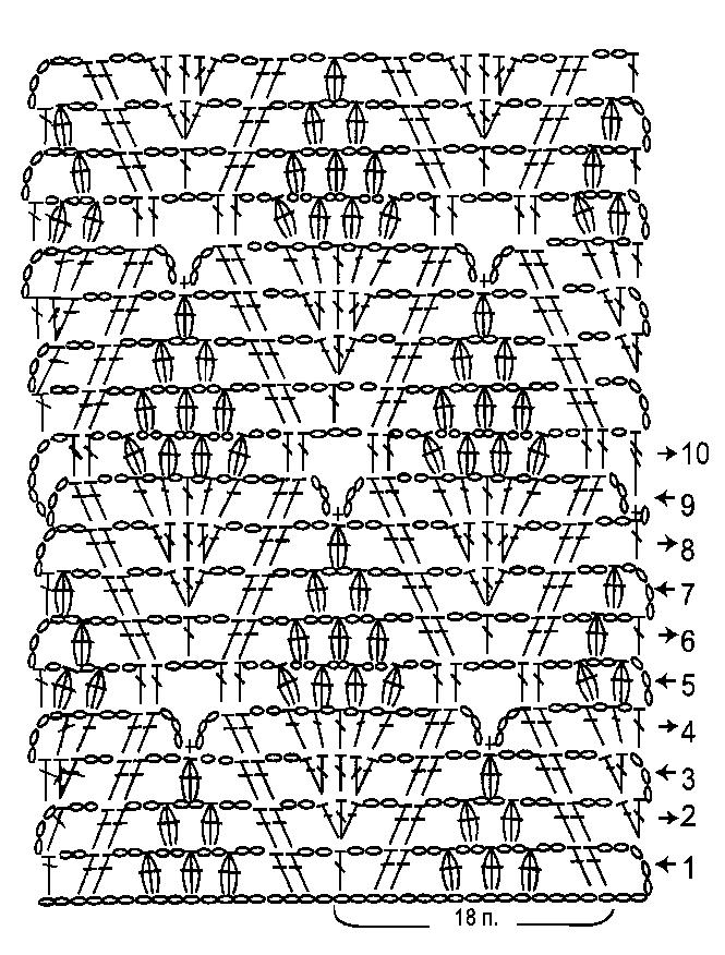 Сложные узоры крючком, Вязание крючком, Узоры крючком