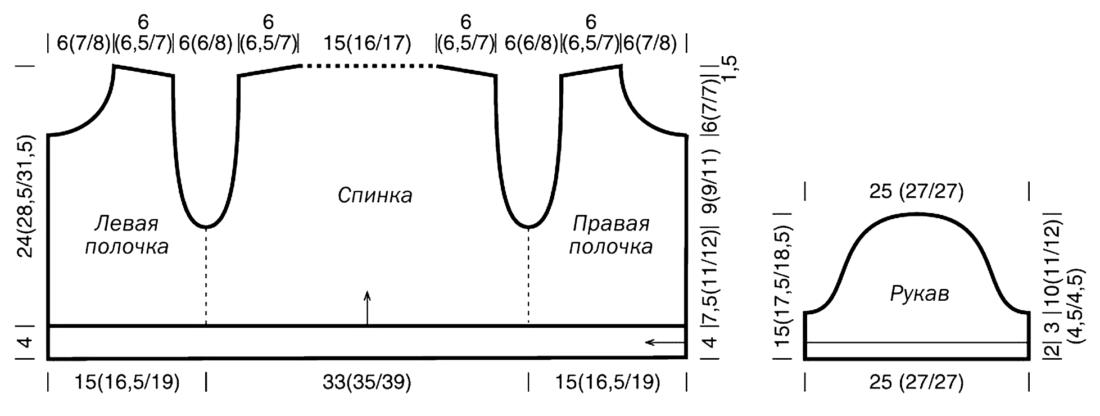 Вязание - болеро Марина Шагимуратова Простые схемы 10