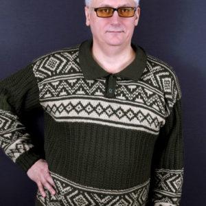 мужской джемпер с жаккардовым узором