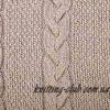 мужской свитер с арановым узором