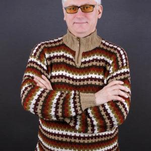Мужской свитер с ленивым жаккардом