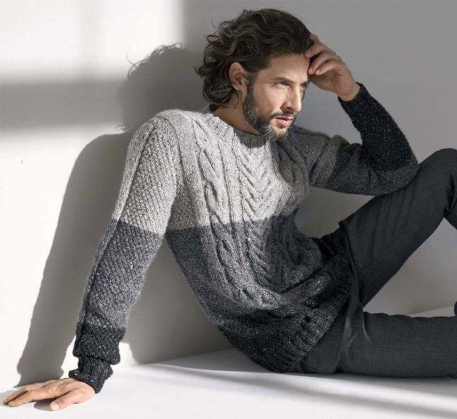 Мужской джемпер с аранами, вязание дляы мужчин, модели вязаной одежды для мужчин, вязание спицами, вяжите с нами, вяжем вместе, джемпер мужской, джемпер мужской меланжевый, джемпер мужской серый, свитер с косами , мсвитер мужской с косами, свитер мужской с аранами, вязание на заказ, мужской джемпер на заказ