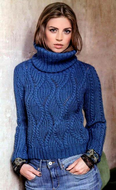 свитер женский, свитер женский с аранами, вязание женщинам, модели вязаной одежды для женщин, вязание спицами, свитер голубой, свитер с аранами, свитер с косами, вязание на заказ, вяжите с нами, свитер с патентной резинкой, вяжем вместе,свитер в оригинальными переплетениями, патентная резинка, английская резинка