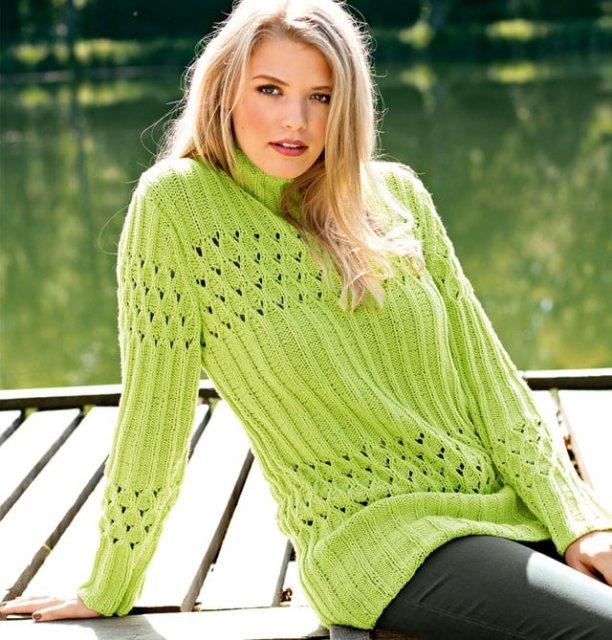 свитер цвета лайм, весенний свитер, в'язання спицями, свитер женский, вситер женский вязаный, свитер женский ручной работы, вязание спицами, вязание для женщин, модели вязаной одежды для женщин, вяжите с нами, вяжем вместе, схемы и описания вязаных вещей, много схем вязания, узоры спицами, вязание на заказ