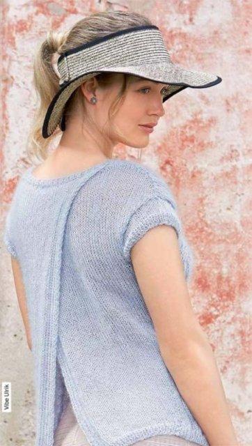 Джемпер нежно голубой, джемпер спицами, вязание женщинам, модели вязаной одежды для женщин, вязание спицами, вязание на заказ, вяжите с нами, вяжем вместе, узоры спицами, джемпер с косами, джемпер шелковый, джемпер мохер + шелк, в'язання спицями, джемпер вязаный ручной работы, джемпер женский, джемпер летний