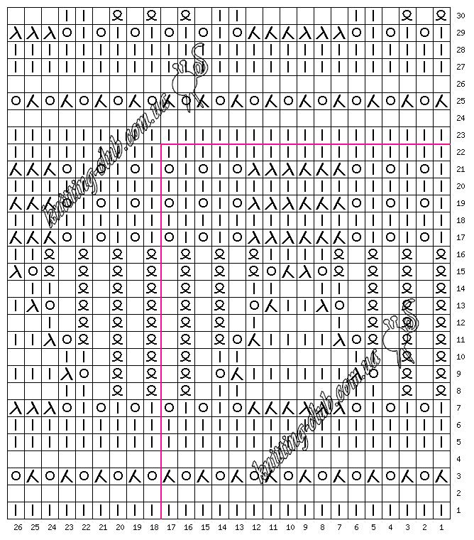 ажурный узор №016, Узоры, схемы, описания, узоры спицами, описание, вязание на заказ, схемы узоров, ажурные узоры, узоры из азиатских журналов, много схем узоров, ажуры,, араны, косы, жаккарды, ирландские узоры, рельефные узоры, многоцветные узоры, ажурные волны, ажурные сеточки, узоры с втянутыми и снятыми петлями, резинки, английские резинки, узоры в вашу копилочку, копилка узоров, вязание спицами, вязание крючком, вязание спицами и крючком, вяжите с нами, вяжем вместе, азбука вязания, 250 японских узоров