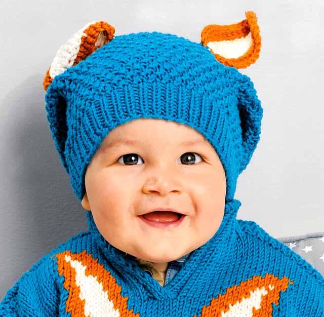 пуловер с узором «Лисичка», комплект детский из пуловера и шапочки, пуловер детский, пуловер ручной вязки детский, вязание детям, в'язання спицями, модели вязаной одежды для детей, вязание детям, вязание на заказ, схемы и описания вязаной одежды для детей, детский пуловер с орнаментом