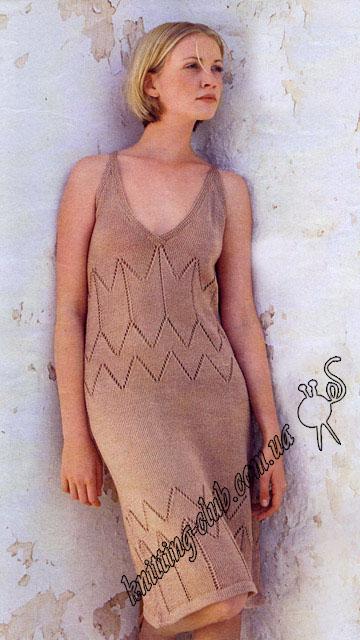 платье, платье ажурное, платье ручной работы, платье с зигзагом, платье пудрового цвета, платье с ажурным узором, бежевое платье, летние модели, платье вязанное хлопковое, вязание для женщин, вязанное платье, вязание спицами, ажурные узоры