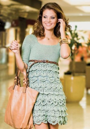 Платье крючком, ажурное платье крючком, бирюзовое ажурное платье, платье крючком филейным узором с кружевом, вязание крючком, вязание на заказ, модели вязаной одежды для женщин крючком, вязаные модели крючком, в'язання гачком, узоры крючком, ракушки крючком, мотивы крючком