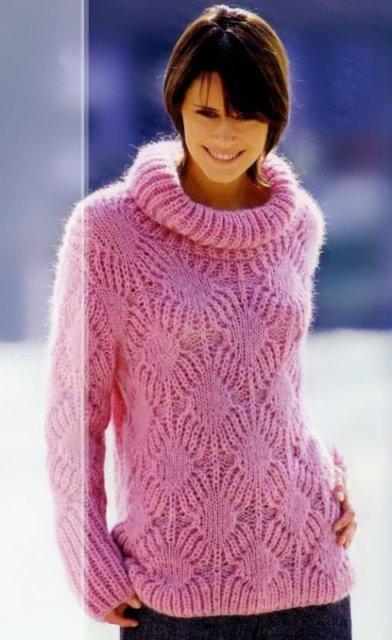 свитер розовый, свитер женский, свитер мохеровый, свитер розовогоцвета, вязание спицами, как связать свитер со структурным узором, вязание на заказ, вязание для женщин, вязаные модели для женщин, модели вязаной одежды для женщин, вязание спицами, вяжите с нами, вяжем вместе, узоры, схемы вязания, описания вязаных изделий, кофта, кардиган, в'язання спицями
