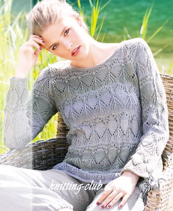 Джемпер с ажурными полосами, джемпер ажурный, джемпер женский, вязание спицами, как связать джемпер с ажурным узором, вязание на заказ, вязание для женщин, вязаные модели для женщин, модели вязаной одежды