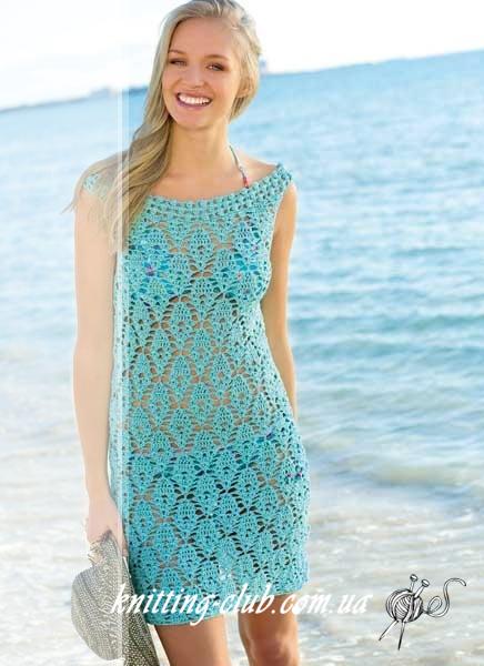 Платье крючком, ажурное платье крючком, голубое ажурное платье, вязание крючком, вязание на заказ,модели вязаной одежды для женщин крючком, вязаные модели крючком,в'язання гачком, узоры крючком, ракушки крючком